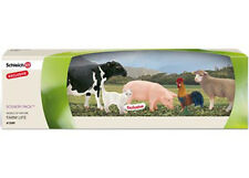 *NEW* SCHLEICH 41349 Farm Animals Scenery Pack - Cat, Sheep, Cow, Rooster & Pig