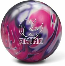 "New listing New Brunswick Rhino Pink Purple Black Bowling Ball | 1st 15#2oz Top 2.5 Pin 3-4"""