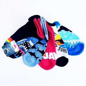 NWT New Jaws Movie Shark Ankle Socks 5 Pairs Womens Sizes 4-10