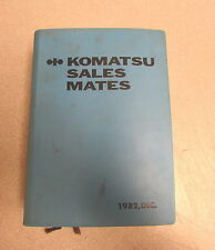 1982 Komatsu Sales Mates Book Manual