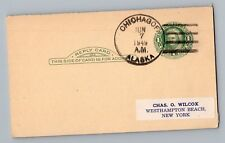 Chichagof Alaska AK 1949 4-Bar Cancel Postmark Postcard DPO