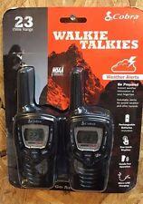 Cobra Walkie Talkies CXT385 Up To 23 Mile Range NOAA Weather Alerts Hands Free
