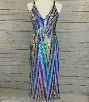 Dress the Population Women's Margo Sleeveless Sequin Stretch Party Prom Dress