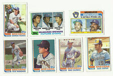 VINTAGE 1982 TOPPS Baseball CARDS – Milwaukee Brewers – MLB