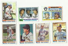 VINTAGE 1982 TOPPS BASEBALL CARDS – MILWAUKEE BREWERS – MLB