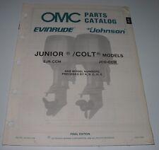 Parts Catalog OMC Ersatzteilkatalog Evinrude Johnson Junior / Colt Models 1988!
