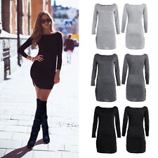 Cotton Blend Clubwear Long Sleeve Short/Mini Dresses
