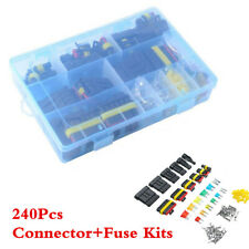 Waterproof Car 1/2/3/4/5/6 Pin Way Wire Electrical Connectors Terminal+Fuses Kit