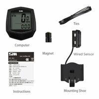 Bike Wired Stopwatch Bicycle Multifunction Computer Speedometer Odometer @3