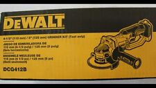 New DEWALT DCG412B 20V Max Lithium-Ion 4-1/2 in. Cordless Angle Grinder