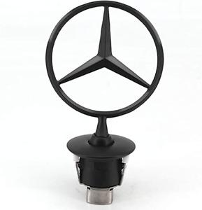 Mercedes Benz Glossy Black Ornament Star Front Hood Bonnet Mounted Emblem C E S