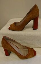 BNWT  Next Tan Forever Comfort Leather Peep Toe Shoes Size 7  RRP £45.00