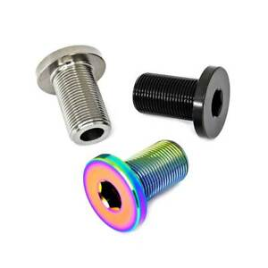 TLC BIKES Primo and Haro Titanium Crank Spindle Bolts - Natural, Black, Rainbow