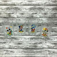 Walt Disney World McDonald's Mickey Mouse 2000 Celebration Glass Cups *Lot of 4