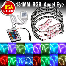 4 x RGB Color LED Angel Eye Halo Rings for BMW E46 E39 3 5 7 Series Headlights