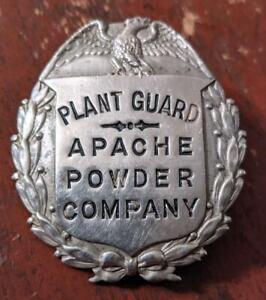 RARE BADGE PLANT GUARD APACHE POWDER COMPANY COCHISE COUNTY ARIZONA AZ