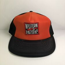 Vintage Western Pacific Railroad Trucker Mesh Snapback Hat