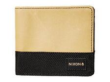 Nixon Origami Bi-Fold Zip Wallet (Khaki/Black)