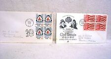 1960-62, 2-First Day Issue Stamps 4 Cent Camp Fire Girls And 4 Cent Girl Scouts