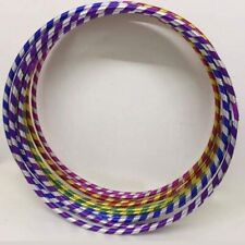 Small X Large Multi color Rattan Stripe Hula Hoops Adults Kids Fitness Exercise