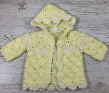 Hand Knitted Toddler/Baby Boys / Girls Cardigan Sweater 12-18 months yellow
