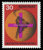 EBS Germany 1967 ADVENIAT Catholic Relief for Latin America Michel 545 MNH**