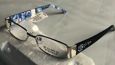 Pomy Eyewear 382 Silver Midnight Bloom Blue 50-15-135 Women's EyeGlasses  frames