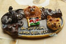 Kenia, Jambo Big Five, Reiseandenken Souvenir 3D Polyresin Kühlschrankmagnet