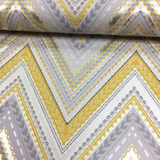 Chevron Wallpaper Aztec Zig Zag Retro Arrows Metallic Yellow Luxury Grandeco
