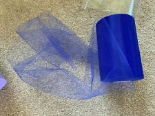 5m of 150mm Wide Soft Nylon Royal Blue Tulle Netting Fabric Wedding/Tutu/Crafts