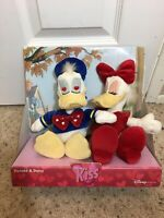 Vintage New Disney Donald Duck Daisy Duck Kiss Love Plush Stuffed Animal Toy