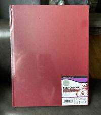 "Daler Rowney large~8.5"" x 11"" 75LB sketch book pad sketchbook draw hardcover pen"