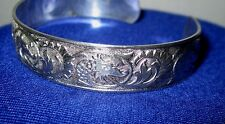 Sterling Silver BB (Binder Brothers) Cuff Bracelet Dragon Fire Fish Pisces Snake