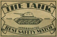The Tank Match Box Package Label Poster Stamp Cinderella