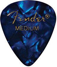 Fender 351 Premium Celluloid Guitar Picks - MEDIUM, BLUE MOTO 12-Pack (1 Dozen)