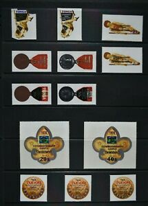 TONGA, a collection of 36 self adhesive stamps for sorting, MM condition.