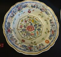 GGG34 ANTIQUE 1830S ROYAL WORCESTER GRAINGER BONE CHINA SOUP BOWL 10 1/4 X 2""