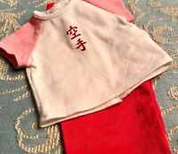 Authentic American Girl Doll Clothes TOP AND RED PANTS
