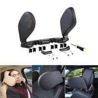1PC Black Leather Car Seat Neck Cushion Pillow Headrests Memory Foam Adjustable