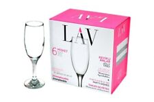 6 x Champagne Glasses Drinking Glass Whisky Juice Party Flutes Drinkware 190ml