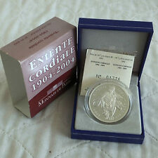 FRANCE 2004 entente cordiale 1.5 EURO SILVER PROOF-COA