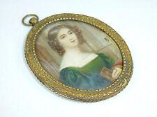 Anni Hilmeyer Monaco Ritratto Miniatura frame circa 1860 autografato