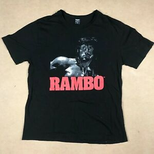 Rambo III Mens Size XL Black Short Sleeve T Shirt Tee Graphic