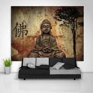 Buddha Religion Wandteppich Kunst Wandbehang Tisch Bettdecke Poster