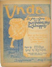 UNDA, The Carnippers, newspaper supplement sheet music,  1904