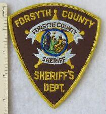 FORSYTH COUNTY NORTH CAROLINA SHERIFF'S DEPARTMENT PATCH Vintage ORIGINAL