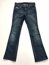 56e9907d DIESEL Dark Wash Distressed Stretch Bootcut Jeans Cross Selvage Made In  Italy 28