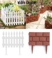 Heritage Garden Fence Picket Border Brick Wall Edging Gardening Lawn Fencing