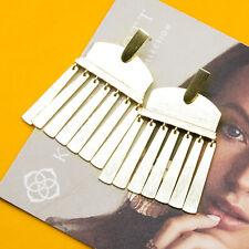 Kendra Scott Layne Metallic Statement Earrings In Gold NEW