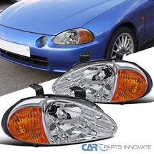 For 93-97 Honda Civic del Sol Clear Lens Headlights Driving Head Lamps Pair (Fits: Honda)